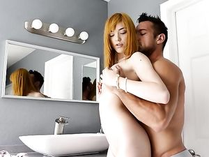 Milky White Temptress With Red Hair Fucked Anally