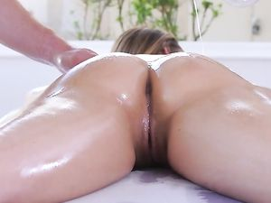 Tender Oil Massage Turns On Dillion Harper To Fuck