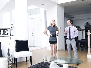 Hot Real Estate Agent Fucks A Client In The House