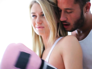 Boxing Lessons Turn Hardcore With The Busty Blonde