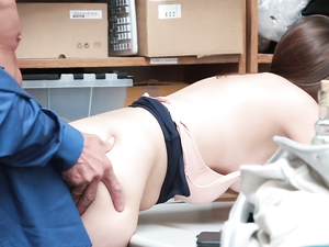 Teen Shoplifter Fucked By The Security Guard
